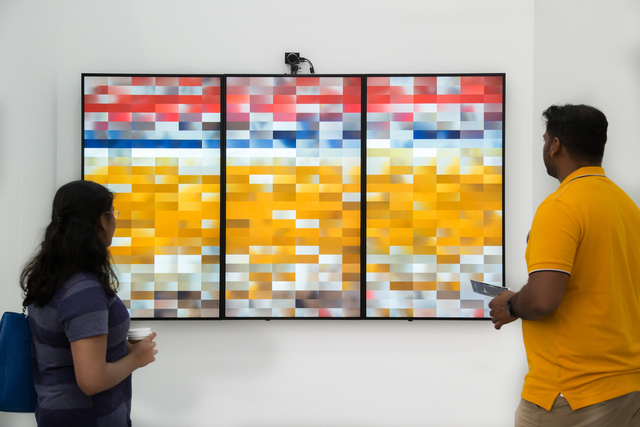 , 'Saturation Sampler,' 2017, bitforms gallery