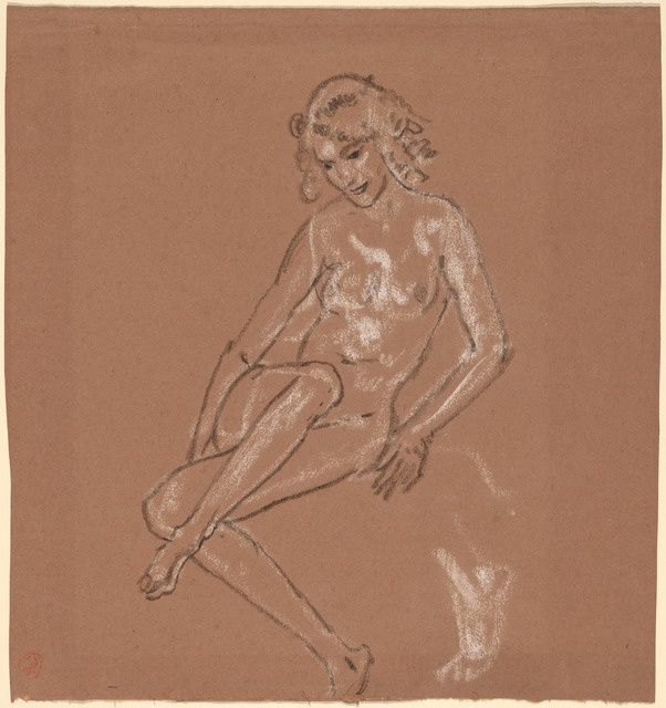 Arthur Bowen Davies, 'Seated Nude and a Foot', probably 1920, National Gallery of Art, Washington, D.C.
