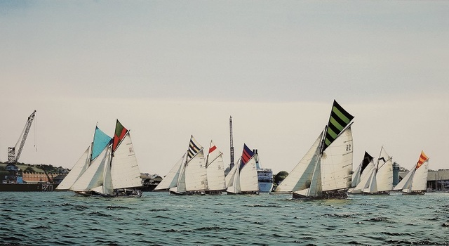 , 'Falmouth Harbour Race,' , Beside the Wave