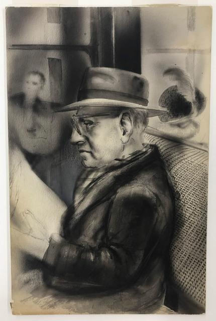 Saul Lishinsky, 'Reader on a Train', circa 1930, Doyle