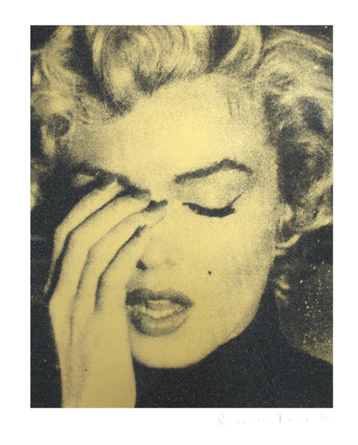 , 'Marilyn Crying (Atomic Gold),' 2013, Zemack Contemporary Art