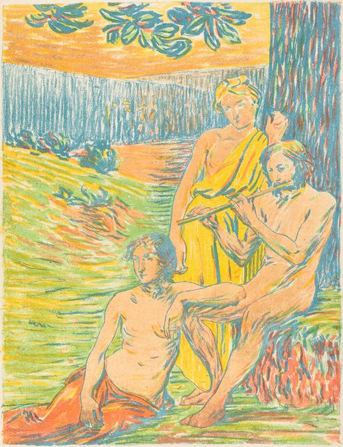 Hippolyte Petitjean, 'Pan IV (Arcadia)', 1898/1900, Print, Color lithograph, National Gallery of Art, Washington, D.C.