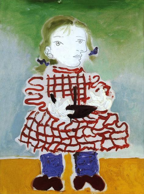 , 'Maya au tablier rouge,' 1978, Galerie Calderone