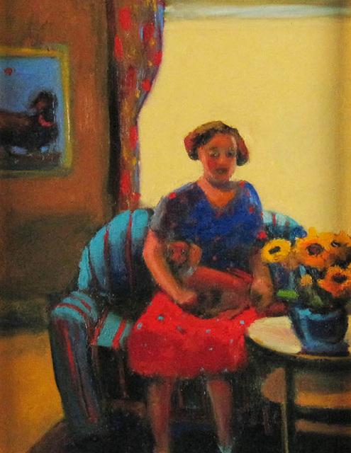 Lois Silver, 'Millie's Got a Weiner', ca. 2006, Painting, Oil on Board, Janus Galleries