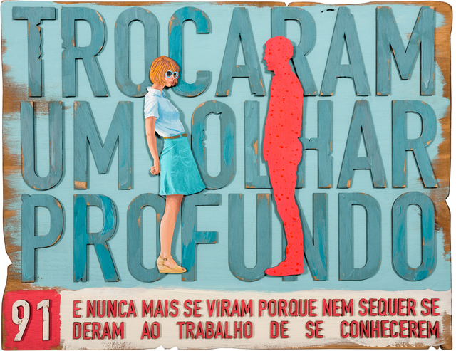 , '91. Trocaram um olhar profundo... (They Looked Deeply Into Each Other's Eyes...),' 2017, Underdogs Gallery
