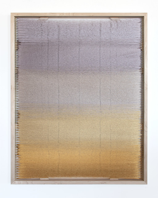 Rachel Mica Weiss, 'Woven Screen, Halo II', 2020, Textile Arts, Polyester embroidery thread, brass hooks, maple, Carvalho Park