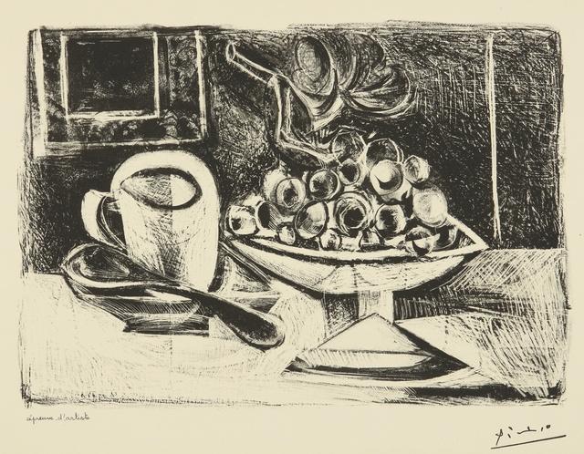 Pablo Picasso, 'Nature morte au compotier (B. 379; M. 6)', 1945, Print, Lithograph, Sotheby's