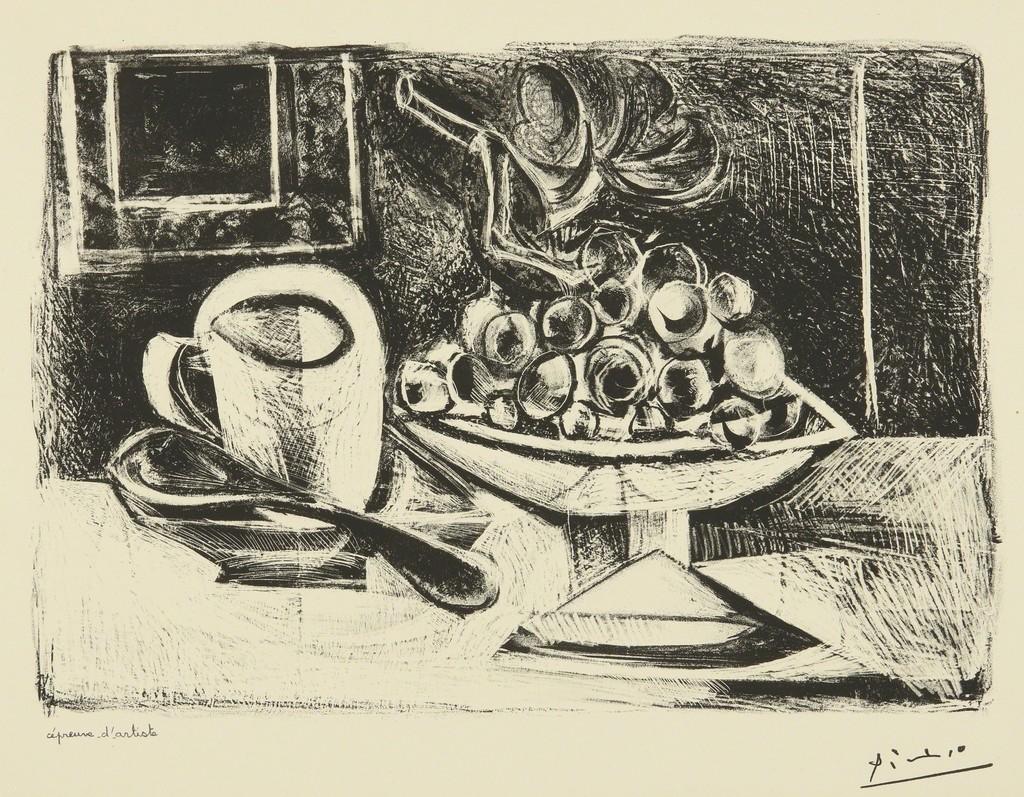 Pablo Picasso | Nature morte au compotier (B. 379; M. 6) (1945 ...