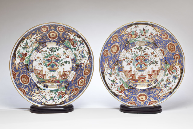 , 'Faience Pair of Circular Dishes, a Royal Gift from the King of Poland to the Sultan of Turkey,' ca. 1776, Michele Beiny Inc.