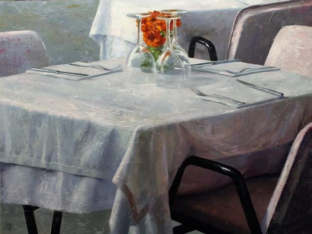 , 'Flors taronges,' 2017, Sala Parés
