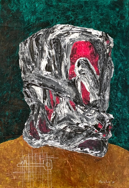 Sambou Diouf, 'No title ', 2018, Painting, Mixed media on canvas, OH GALLERY
