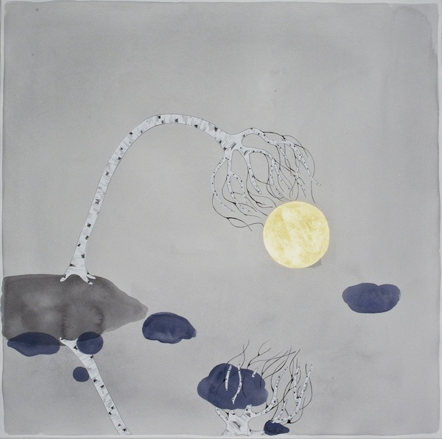 ", 'the moon , ""reach"",' 2015, Galerie du Monde"