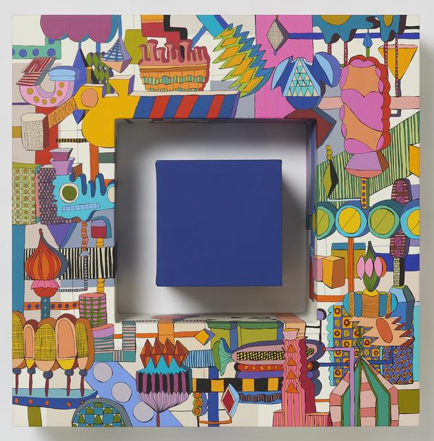 Eunmi Kim, 'push a button(blue)', 2019, Painting, Acrylic,pen on canvas, Gallery LEE & BAE
