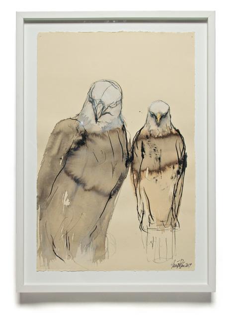 , 'SUMI EAGLE STUDY,' 2019, Traver Gallery