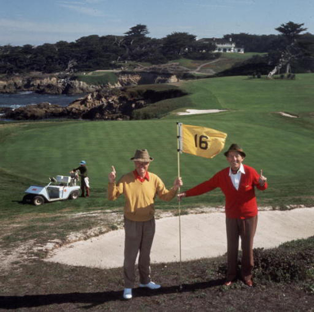 , 'Golfing Pals, Bing Crosby and Thomas Taylor,' 1977, Undercurrent Projects