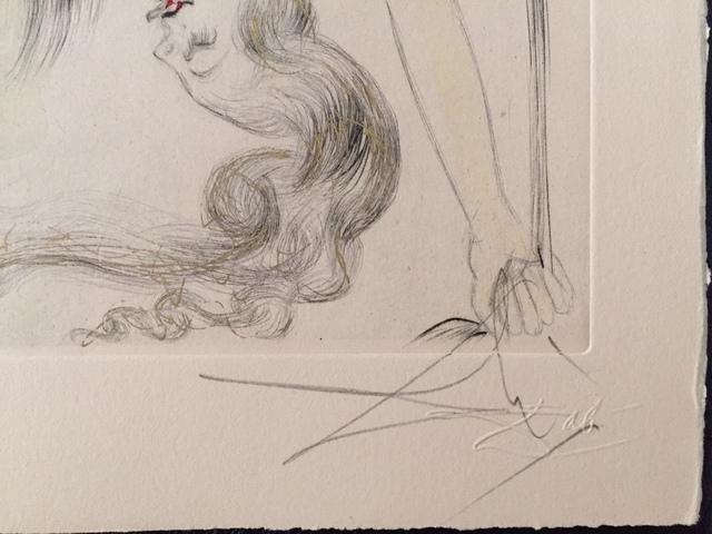 Salvador Dalí, 'Femme a la Chaussure (Woman with Shoe)', 1969, Print, Etching, Puccio Fine Art