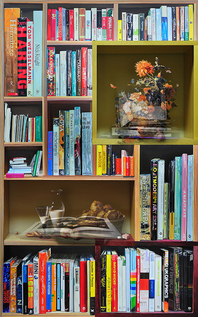 Joonsung Bae, 'The Costume of Painter - Still Life with poppy in bookcase', 2011, Gallery Skape