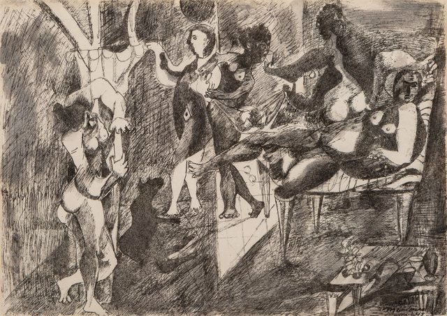 Mariano Rodriguez, 'Bacanal con Perro Negro', 1948, Heritage Auctions