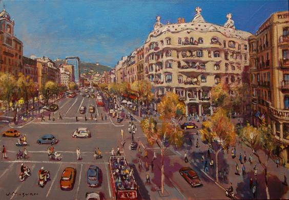 Josep Moscardó, 'La pedrera, Gaudí', 2019, Sala Parés