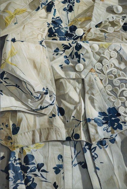 , 'White and Blue with Yellow Dragonflies,' 2015, Mind Set Art Center