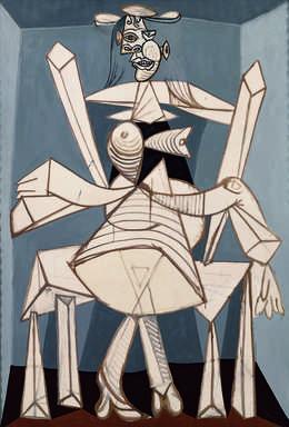 Pablo Picasso, 'Femme assise dans un fauteuil (Dora) (Woman Sitting in an Armchair, Dora)', 1938, Painting, Oil on canvas, Fondation Beyeler
