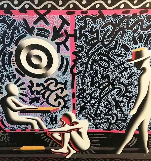 LA II (Angel Oritz), 'Untitled (Collaboration with Mark Kostabi)', 2018, Lawrence Fine Art