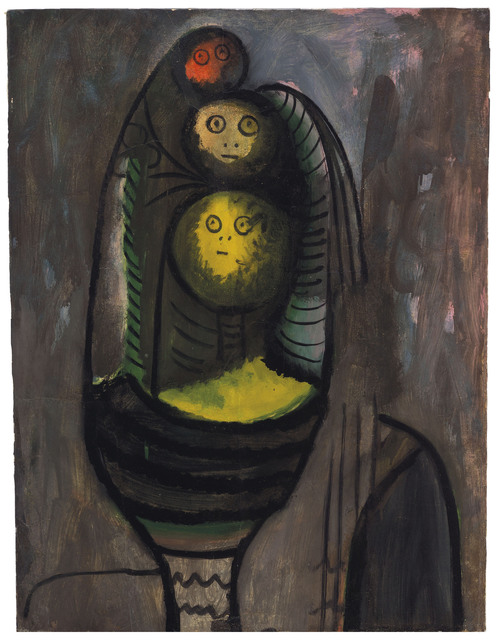 Wifredo Lam, 'Untitled', circa 1943, Painting, Oil on paper laid on canvas, Christie's