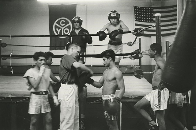 "Art Shay, '""Man of Steel"" Tony Zale Coaches CYO Youth, 1950', 2018, Gallery Victor Armendariz"