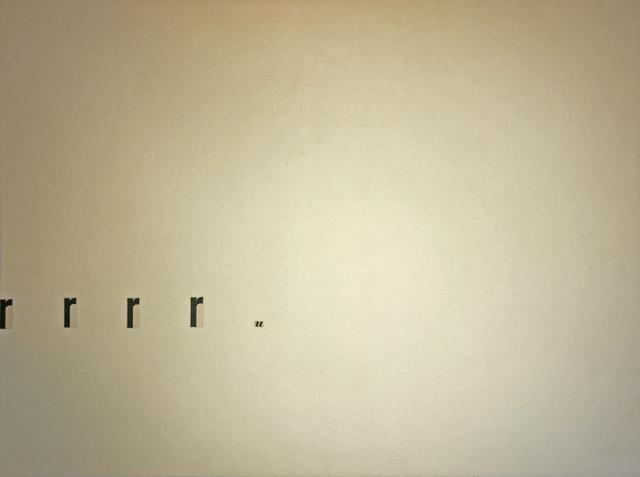 , 'Untitled (rrrru),' 1957, Christine König Galerie