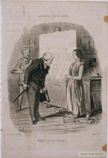 Honoré Daumier, 'Scènes d'Atelier: Madame, j'ai bien l'honneur!...', 1848, Phillips Collection