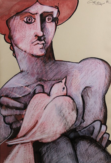 , 'Figure and Dove,' 1981, Castlegate House Gallery