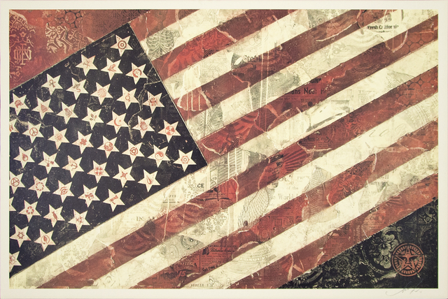 Shepard Fairey, 'Flag 1 (Offset)', 2011, Heather James Gallery Auction