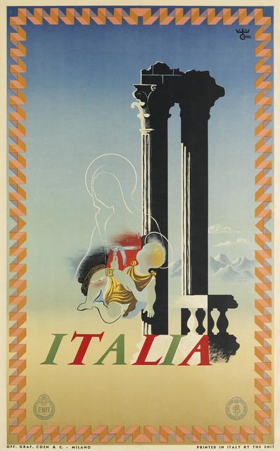 Adolphe Mouron Cassandre, 'ITALIA', 1936, Swann Auction Galleries