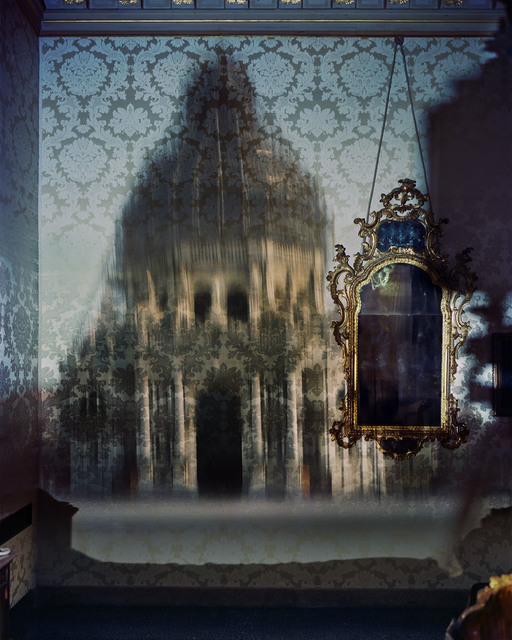 , 'Blurry Upright Camera Obscura: Santa Maria Della Salute with Scaffolding in Palazzo Bedroom, Venice,' 2007, Huxley-Parlour