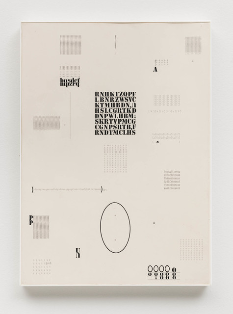 , 'Datiloscritos (Typed Writings),' 1974, Bergamin & Gomide