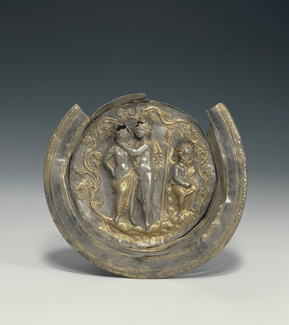 'Bowl with a Medallion Depicting Dionysos and Ariadne',  late 2nd century B.C., J. Paul Getty Museum