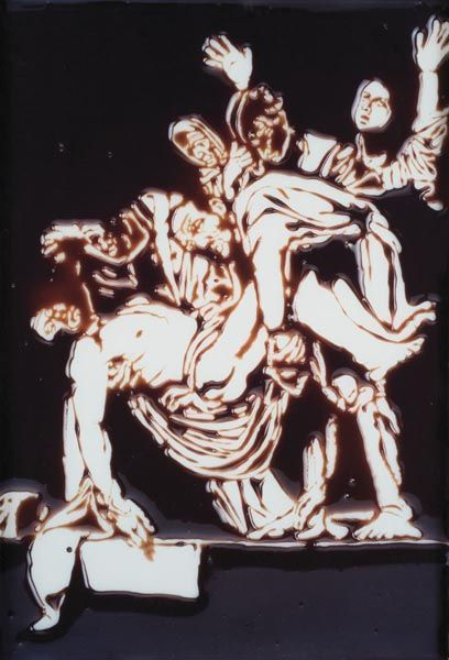 Vik Muniz, 'Descent from the Cross (after Caravaggio from Pictures in Chocolate series)', 2000, Pan American Art Projects