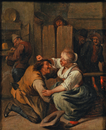 Tavern Interior with Tussling Couple