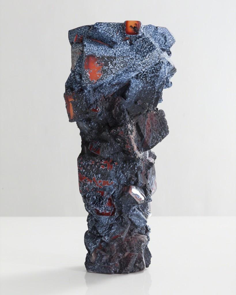 Unique blown glass assemblage vessel