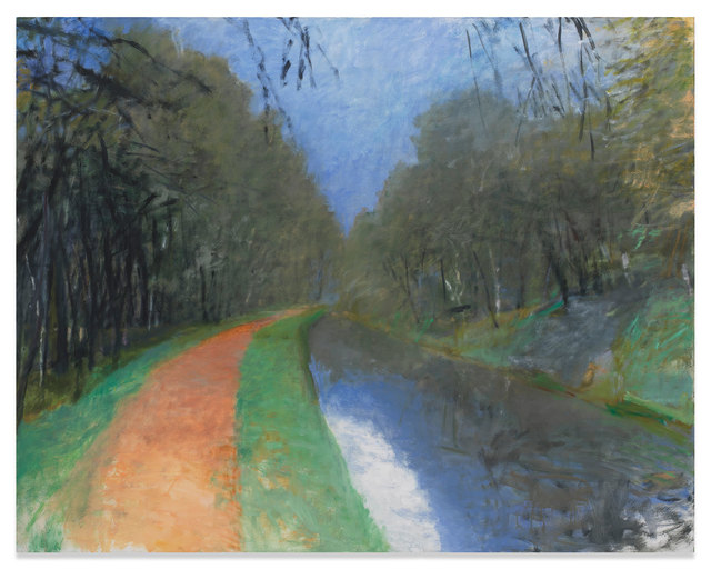 Wolf Kahn, 'Orange Towpath - C & O Canal', 1988, Miles McEnery Gallery