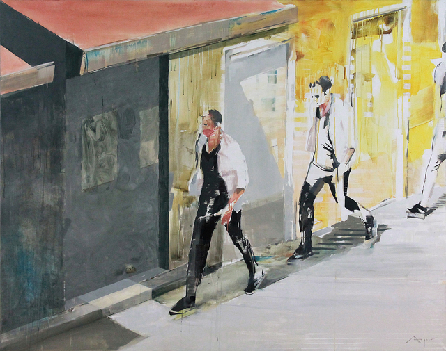 , 'London 3: Man Walking from Above,' 2015, HOHMANN
