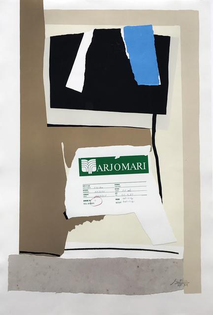 , 'America-La France Variations VII,' 1984, Eckert Fine Art