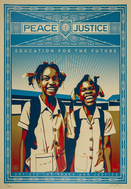 Shepard Fairey (OBEY), 'Peace and Justice - Haiti', 2013, Forum Auctions