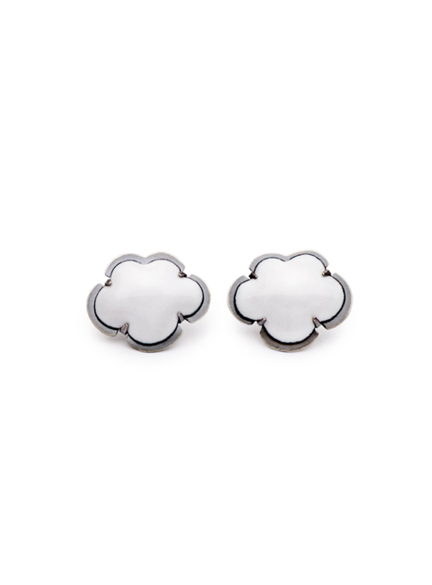 Lisa Crowder, 'White Enamel Cloud Earrings', 2018, Palette Contemporary Art and Craft