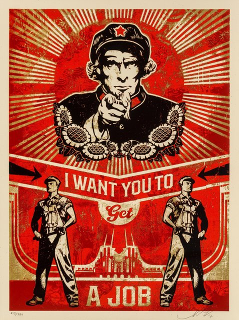 Shepard Fairey, 'I Want You to Get a Job, from Americana', 2012, Heritage Auctions