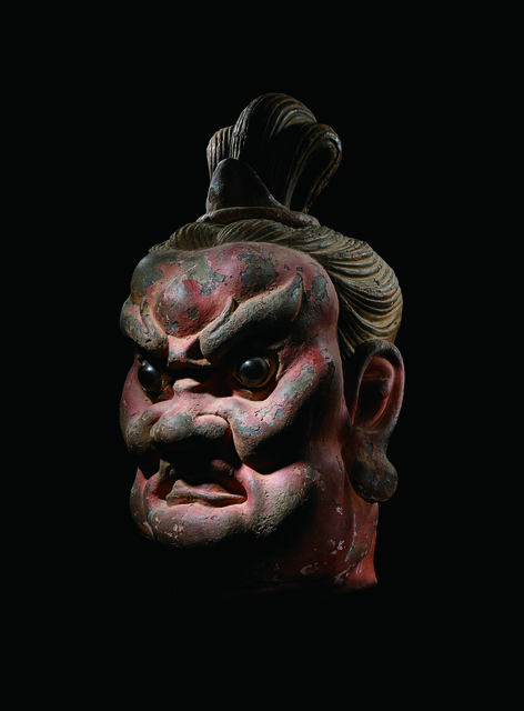 , 'A Large Lacquered and Gessoed Camphor Wood Head of a Guardian 明早期14|15世紀早期 夾紵乾漆樟木守門天首像,' China, early Ming Dynasty, 14th/early 15th century, Rasti Chinese Art