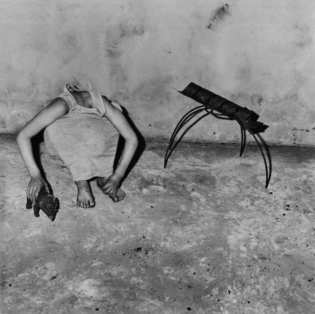 Roger Ballen, 'head inside shirt', 2001, Aura Gallery