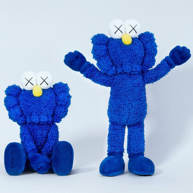 KAWS, 'BFF Plush (Blue)', 2016, Sculpture, Plush, Lucky Cat Gallery