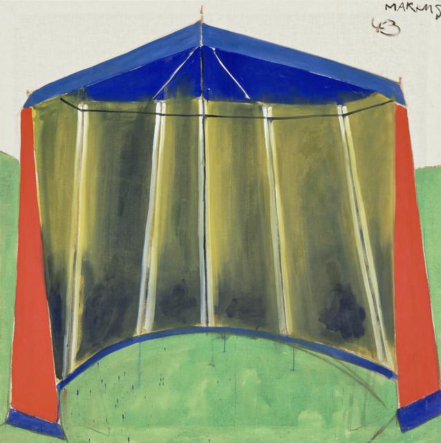 """, '""""Zelt 46 – dithyrambisch (Tent 46 – dithyrambic)"""",' 1965, Michael Werner Gallery"""