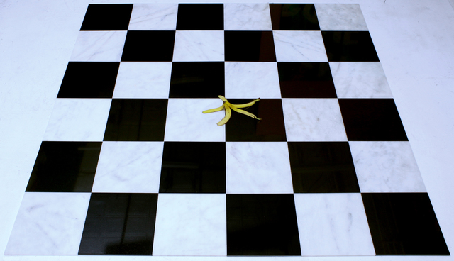 , 'Untitled 6x6 Marble and Granite Tile with Banana Peel,' 2016, VICTORI+MO CONTEMPORARY